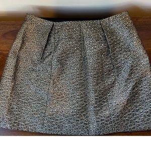 Tibi Metallic Paisley Jacquard Mini A-line Skirt
